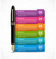 infographics with ink pen vector image vector image