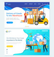 international delivery business with china vector image vector image