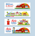 Korea japan thailand travel banners