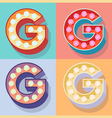 Letter g vector image vector image