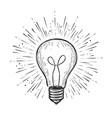 light bulb shining hand drawn concept idea symbol vector image