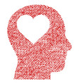 lover head fabric textured icon vector image vector image