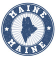 maine stamp vector image