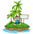 Monkey and island vector image vector image