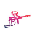 paintball gun isolated on white vector image vector image