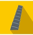 Pisa Tower icon flat style vector image vector image