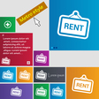 Rent icon sign buttons Modern interface website vector image vector image