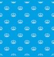 retro christmas tree pattern seamless blue vector image vector image