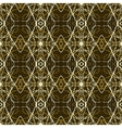 Rich and elegant pattern with gold silver lines vector image vector image