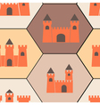 Seamless background with different castles vector image vector image