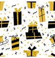 seamless pattern with gifts many gift vector image vector image