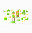 set icons for patricks day vector image
