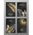set of 4 elegant brochure card background cover vector image vector image