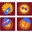 set of 4 icons for sun protection vector image