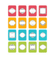 set of banners cute cards with frame collection vector image vector image