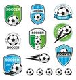 Set of football logos vector image vector image