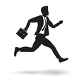 side business runner vector image vector image