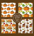 Sketch Thanksgiving patterns vector image vector image