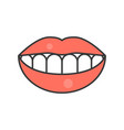 smile teeth dental related icon filled outline vector image vector image
