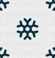 snowflake icon sign Seamless pattern with vector image