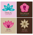 spa flowers logo design elements vector image vector image