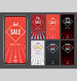 splash vertical banner sale promotion vector image vector image