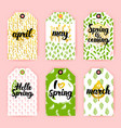 spring trendy gift labels vector image vector image