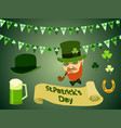 st patricks day horizontal background vector image vector image