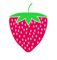 strawberry fruit or strawberries flat color vector image vector image