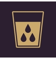 The liquid in glass icon Water and drink aqua vector image vector image