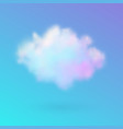 transparent colored cloud on the sky realistic vector image