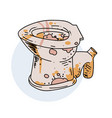 unclean toilet vector image