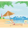 vacation in the tropics vector image vector image