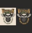 veteran concept emblem vector image