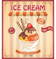 vintage banner with scoop ice cream vector image vector image