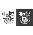 vintage barbershop print vector image vector image