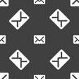 Mail envelope letter icon sign Seamless pattern on vector image