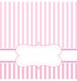 Pink strips valentines card or wedding invitation