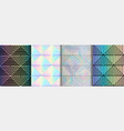 abstract art deco geometric seamless patterms set vector image