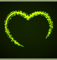 abstract heart of glowing particles sparkling vector image