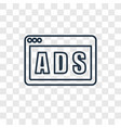 ads concept linear icon isolated on transparent vector image