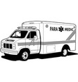ambulance car ambulance vehicle vector image vector image