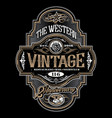 antique frame design western label vintage border