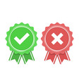 approved and rejected icon vector image vector image