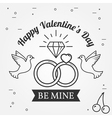 Be mine Happy Valentines Day greetings card labels vector image vector image