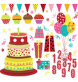 Birthday Party Element vector image vector image