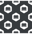 Black hexagon book pattern vector image