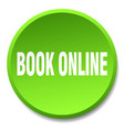 book online green round flat isolated push button vector image vector image