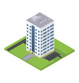 Business isometric building