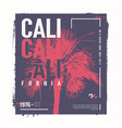 california graphic t-shirt design poster vector image vector image